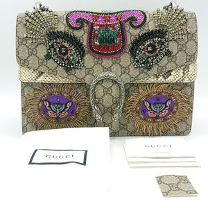 Gucci Bags - NEW GUCCI DIONYSUS GG SNAKESKIN CRYSTAL MEDIUM BAG